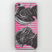 daft punk iPhone & iPod Skins featuring Daft Punk by Ren Davis