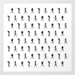 Silhouettes Art Print