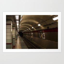 Subway To Hell Art Print