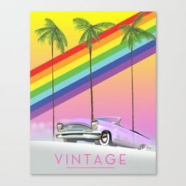 vintage rainbow auto poster. Canvas Print