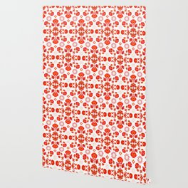 Fiesta Folk Red #society6 #folk Wallpaper