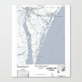 Historical Map of Wilmington NC Canvas Print