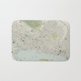Vintage Map of Montreal (1901) Bath Mat