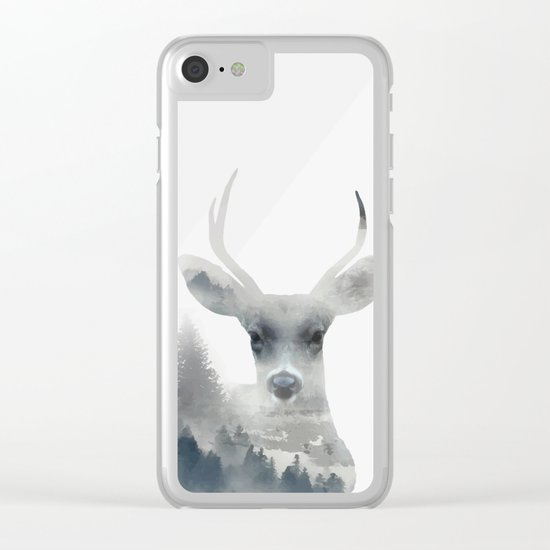 Fearless  winter deer Clear iPhone Case