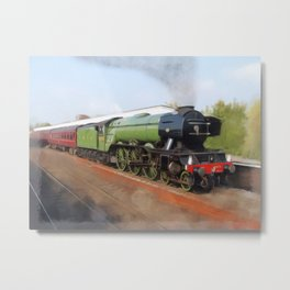 Flying Scotsman, Steam Engine Metal Print