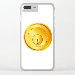 Brass Front Door Lock Clear iPhone Case