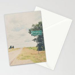 Texas state line ... Stationery Cards