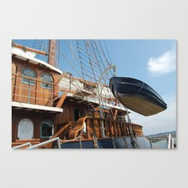 The Peacemaker, Boat in Air, MA Canvas Print