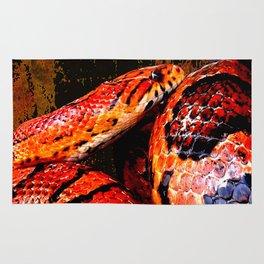 Grunge Coiled Corn Snake Rug