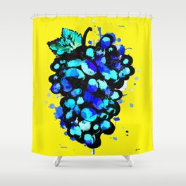 Colored Grape Shower Curtain
