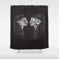 twins Shower Curtains featuring Twins by Bazarovart