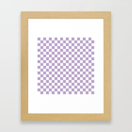 Lavender Checkerboard Pattern Framed Art Print
