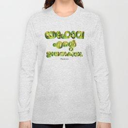 Psalm 23:1 (3D-Green&Orange) Long Sleeve T-shirt