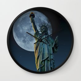 Liberty Moon Wall Clock