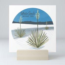 White Sands National Park New Mexico Circle Art Mini Art Print