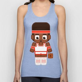 Basketballer - White and Red Unisex Tank Top