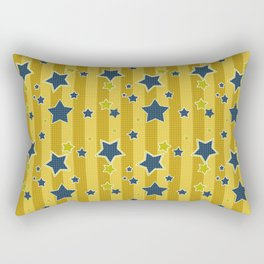 Blue stars on a yellow background Rectangular Pillow
