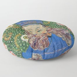 Portrait of the Postman by Vincent van Gogh Floor Pillow