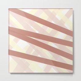 Abstract 01 Aug 2020 (Apricot, Cream, White, Peach, Coral, & Copper) Metal Print