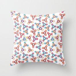 Fidget spinner summer toy Throw Pillow