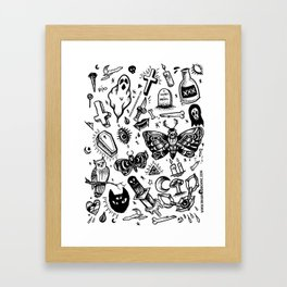 Spooky Flash Sheet - Black Framed Art Print