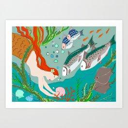 Goddess of the Sea Art Print