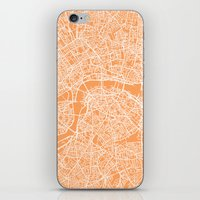 london map iPhone & iPod Skins featuring London Map by chiams