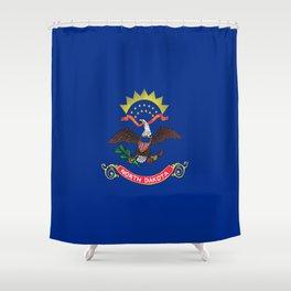 flag of north dakota,america,usa,midwest,dakotan, Roughrider,Flickertail,bismark,fargo,Peace Garden Shower Curtain