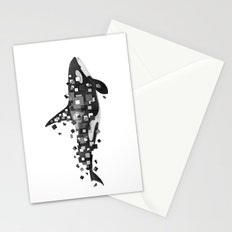 Fractured Killer Whale (mono) Stationery Cards