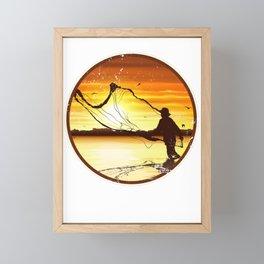 Fishing Framed Mini Art Print