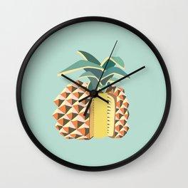 Pineapple illustration Wall Clock