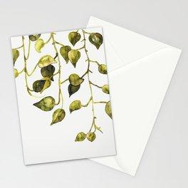 Golden Pothos - Botanical ink painting Stationery Cards