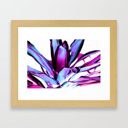 Plant Leaves Abstract Magenta Blue Purple Framed Art Print