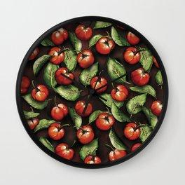 Fruit Acerola Pattern Wall Clock