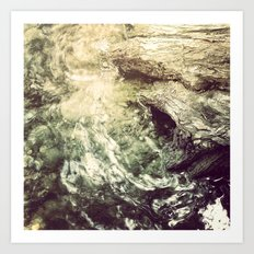 Sleeping under the River Art Print