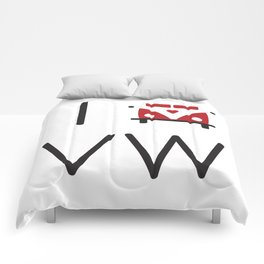 I heart Campervans Comforters