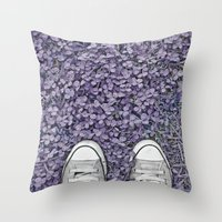 converse Throw Pillows featuring Converse by LoR.