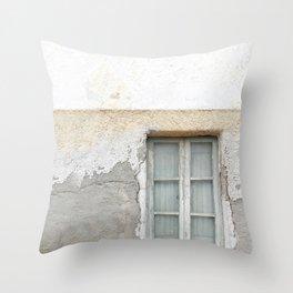 Grunge Window Throw Pillow