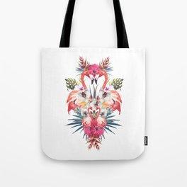 Flamingos Tropicales Tote Bag