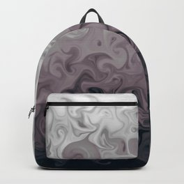 Grey marble effect abstract digital illustration  Backpack