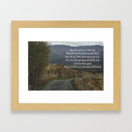 May The Road Rise to Meet You Framed Art Print