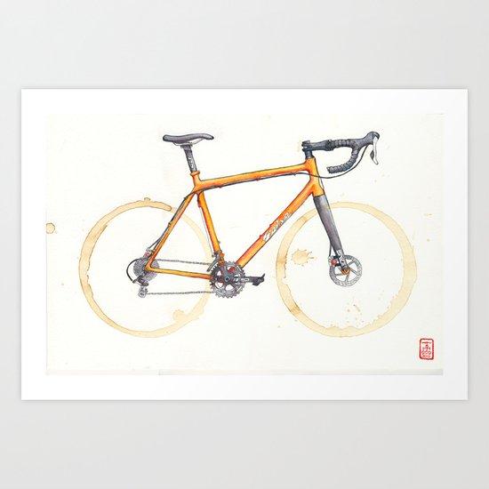 Coffee Wheels - Salsa Warbird Art Print