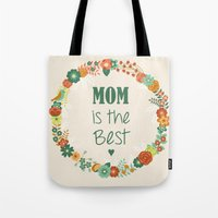 mom Tote Bags featuring MOM by Vic Torys