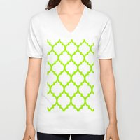 moroccan V-neck T-shirts featuring Moroccan #5 by Saundra Myles