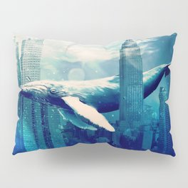 Blue Whale in NYC Pillow Sham