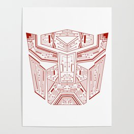 Autobot Tech Red Poster