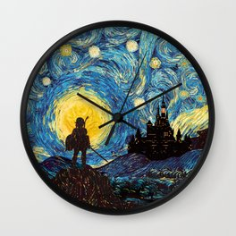 triforce warrior link starry night iPhone 4 5 6 7 8, pillow case, mugs and tshirt Wall Clock