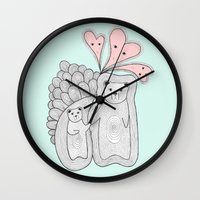 bears Wall Clocks featuring bears by s t i n g s