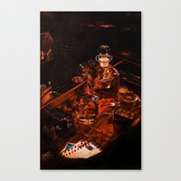 whiskey Canvas Prints featuring Whiskey by Esra Meral Demircan