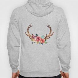 Floral Deer Antlers Hoody